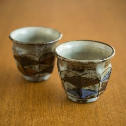 【菱釉掛け分け】 土瓶(ポット)/岡村宜治さん(岐阜県土岐市)